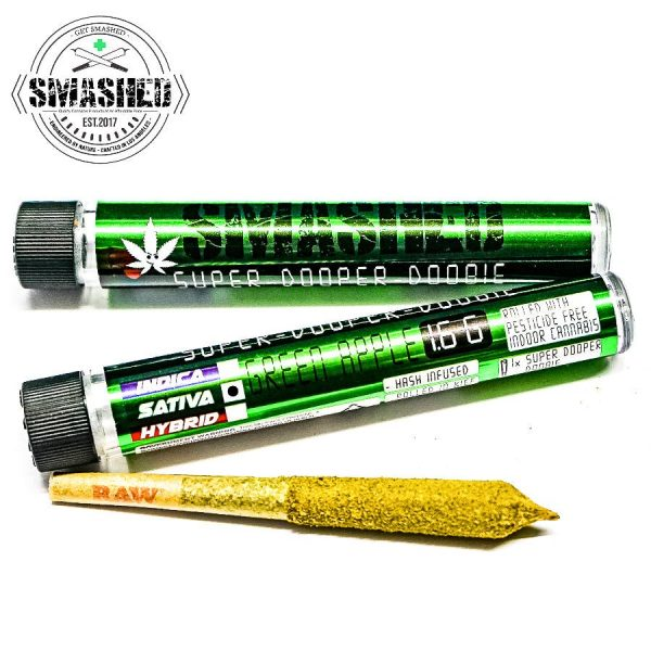 1574465847 SDD GA SATIVA 01 600x600 - Smashed Green Apple Sativa Super Dooper Doobie 1.6g