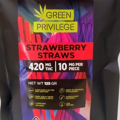 GP 420 Strawberry Straws - Edibles