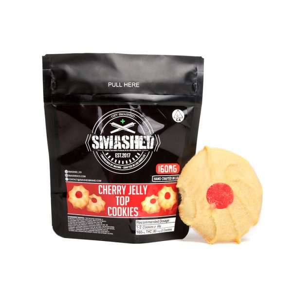 Smashed edibles cherry jelly top cookies 160mg - Edibles