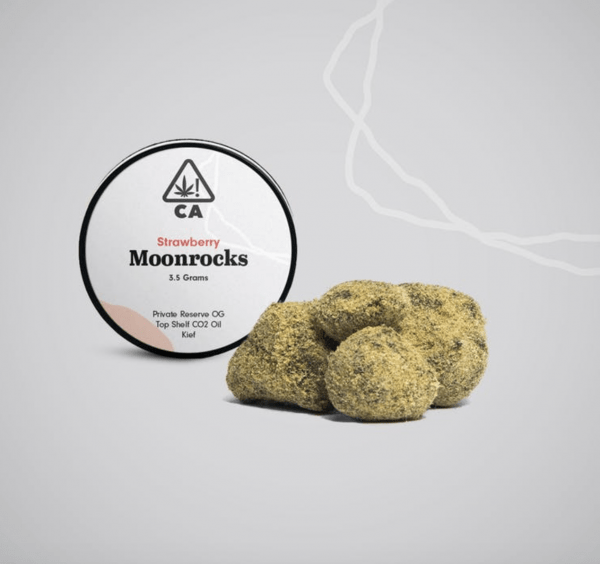 Strawberry Moonrocks 600x564 - The Cookie Factory Strawberry Moonrock 3.5g