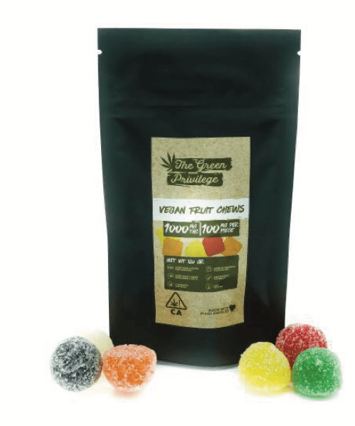 The Green Privilege fruit chew Vegan - Edibles